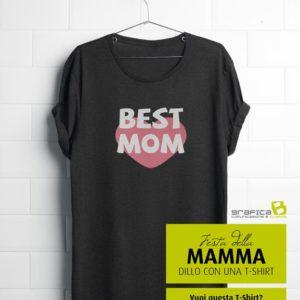 idea regalo per la festa della mamma t-shirt best mom