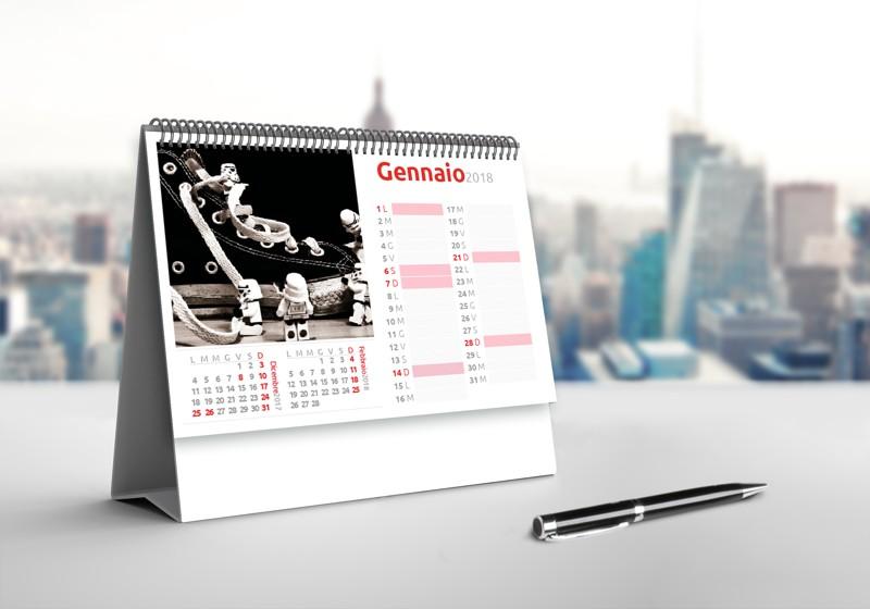 calendario da tavolo personalozzato