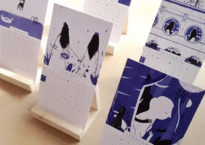 stampa calendari personalizzati scrivania fumetto
