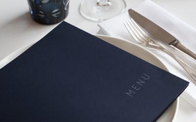 Menu pieghevole per ristorante