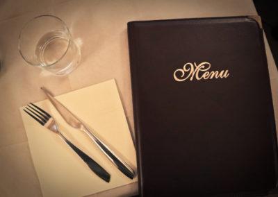 menu pieghevole per ristorante classico