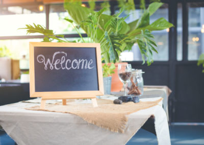 Lavagna menu ristorante da tavolo